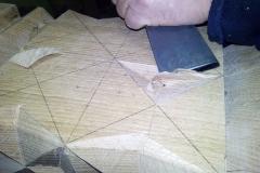 Csillag első háromszögének vésése